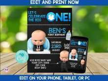 66 Creative Boss Baby Birthday Invitation Template Layouts by Boss Baby Birthday Invitation Template