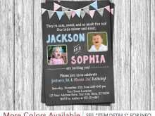 Joint Birthday Party Invitation Template