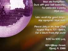 66 Report Disco Party Invitation Template Now with Disco Party Invitation Template