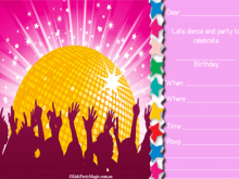 66 The Best Disco Party Invitation Template Templates by Disco Party Invitation Template