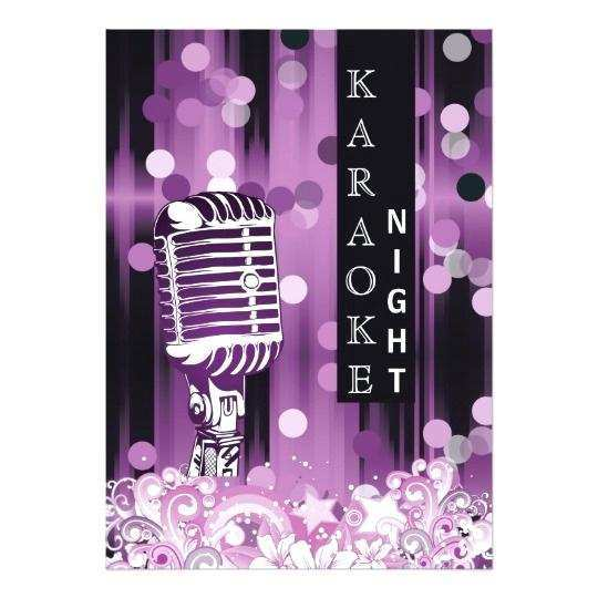 66 Visiting Karaoke Party Invitation Template With Stunning Design by Karaoke Party Invitation Template