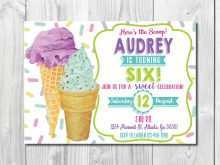Ice Cream Party Invitation Template Free