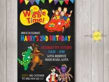 67 Customize Our Free Wiggles Birthday Invitation Template For Free with Wiggles Birthday Invitation Template