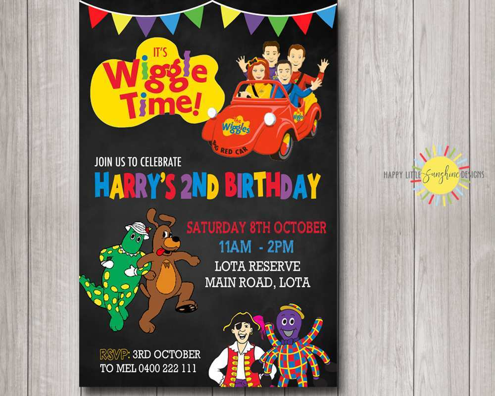 5 Customize Our Free Wiggles Birthday Invitation Template For