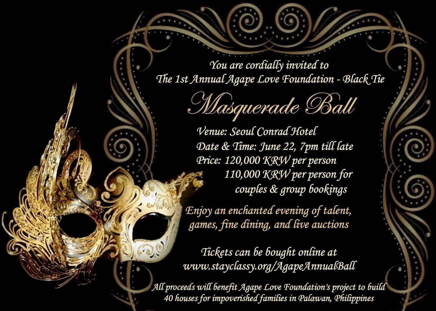 67 Format Masquerade Party Invitation