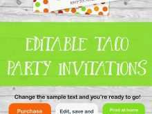 67 Format Taco Party Invitation Template Free for Ms Word by Taco Party Invitation Template Free