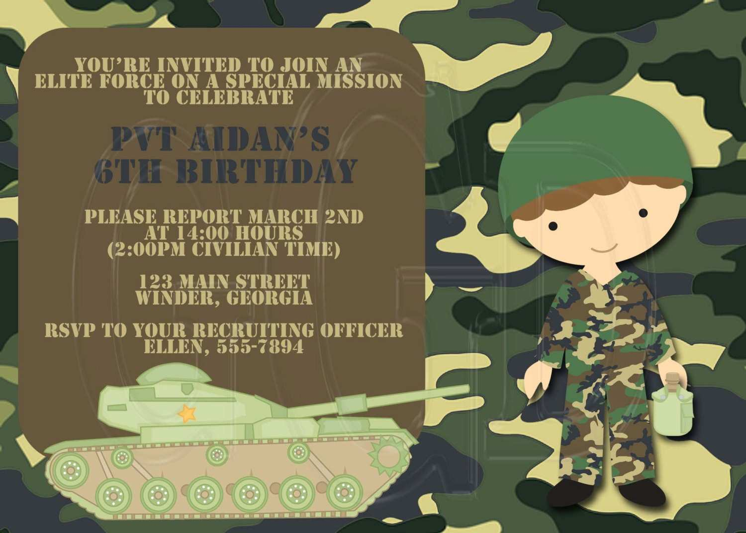 67 Free Camouflage Party Invitation Template Layouts for Camouflage Party Invitation Template