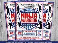 67 Free Ninja Warrior Birthday Invitation Template Free in Photoshop with Ninja Warrior Birthday Invitation Template Free