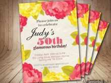 67 How To Create 50Th Birthday Invitation Template Vector Now by 50Th Birthday Invitation Template Vector