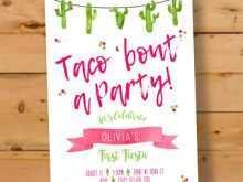 67 Printable Taco Party Invitation Template Maker with Taco Party Invitation Template