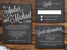 67 The Best Chalkboard Wedding Invitation Template Free With Stunning Design with Chalkboard Wedding Invitation Template Free
