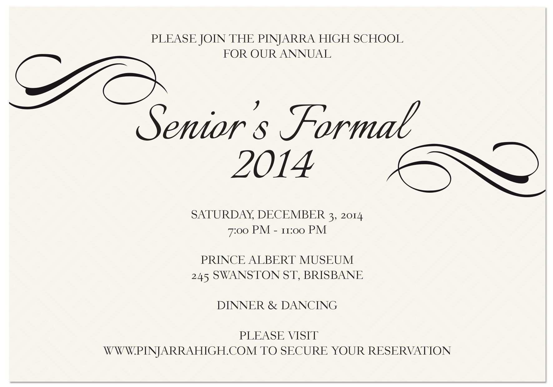 5 The Best School Formal Invitation Template Maker with School