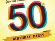 68 Blank 50Th Birthday Invitation Template Vector For Free with 50Th Birthday Invitation Template Vector