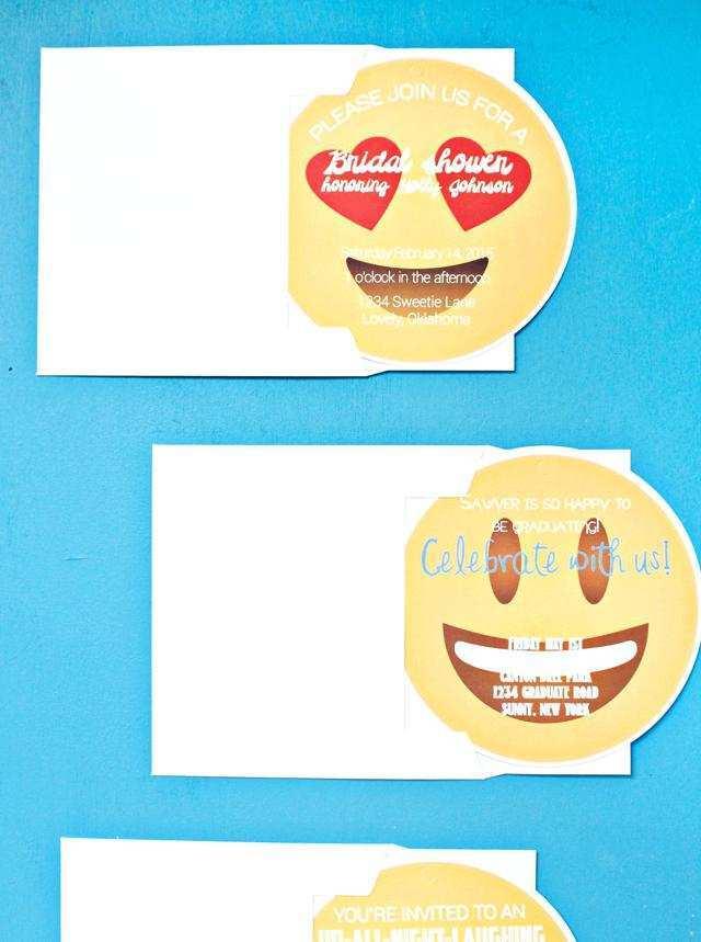 68 Blank Emoji Party Invitation Template Download with Emoji Party Invitation Template