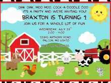 68 Create Farm Animal Birthday Invitation Template Download by Farm Animal Birthday Invitation Template
