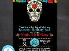 68 Creating Birthday Invitation Template Halloween PSD File for Birthday Invitation Template Halloween