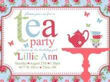 68 Customize Afternoon Tea Party Invitation Template in Photoshop by Afternoon Tea Party Invitation Template