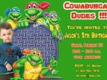 68 Customize Ninja Turtle Birthday Invitation Template With Stunning Design by Ninja Turtle Birthday Invitation Template
