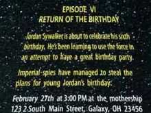68 Customize Our Free Star Wars Birthday Invitation Template Now for Star Wars Birthday Invitation Template