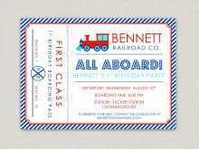 68 Format Birthday Invitation Template Train For Free with Birthday Invitation Template Train
