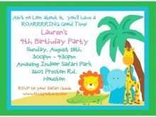 68 Free Birthday Invitation Template Jungle Theme Maker by Birthday Invitation Template Jungle Theme