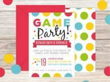 68 Free Printable Game Night Party Invitation Template Maker for Game Night Party Invitation Template