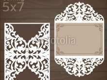 Laser Cut Wedding Invitation Template