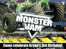 Monster Jam Birthday Invitation Template