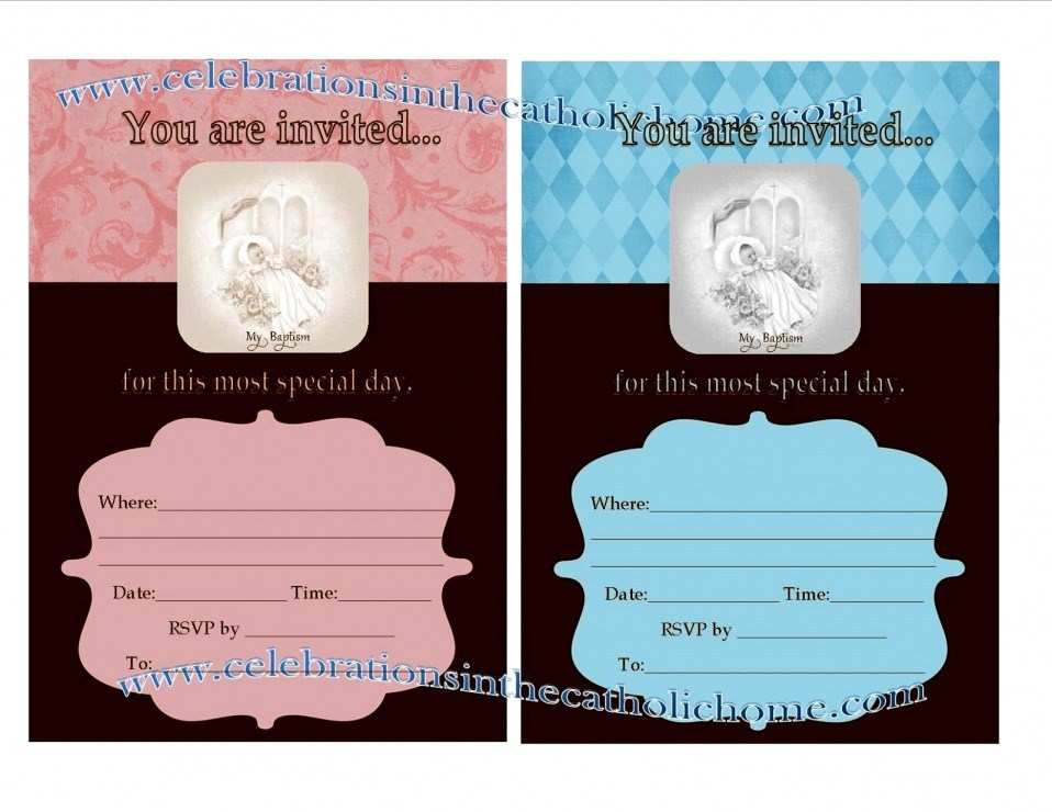 68 Online Blank Invitation Templates For Christening For Free for Blank Invitation Templates For Christening