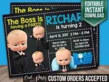 68 Printable Boss Baby Birthday Invitation Template Photo with Boss Baby Birthday Invitation Template