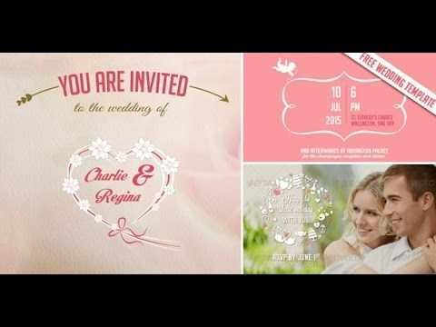 68 Report After Effect Wedding Invitation Template Free Download Maker by After Effect Wedding Invitation Template Free Download