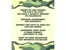 68 Report Camouflage Party Invitation Template in Word with Camouflage Party Invitation Template