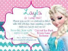 68 Visiting Elsa Party Invitation Template Maker with Elsa Party Invitation Template
