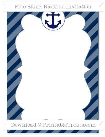69 Adding Nautical Invitation Blank Template in Photoshop with Nautical Invitation Blank Template