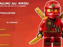 69 Create Ninjago Party Invitation Template For Free by Ninjago Party Invitation Template