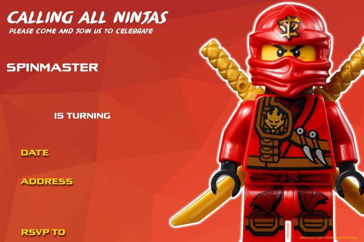 69 Create Ninjago Party Invitation Template For Free by Ninjago Party Invitation Template