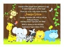 69 Create Safari Birthday Invitation Template Free for Ms Word for Safari Birthday Invitation Template Free