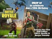 69 Customize Our Free Fortnite Birthday Invitation Template Download with Fortnite Birthday Invitation Template