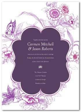 69 Free Wedding Invitation Templates Violet in Photoshop by Wedding Invitation Templates Violet
