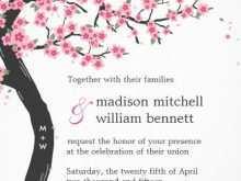 69 Online Cherry Blossom Wedding Invitation Template Maker for Cherry Blossom Wedding Invitation Template
