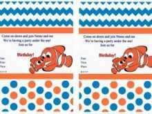 69 Printable Nemo Birthday Invitation Template Layouts for Nemo Birthday Invitation Template