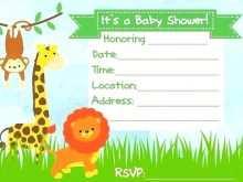 69 Report Blank Safari Invitation Template Formating by Blank Safari Invitation Template