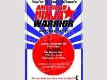 69 Standard American Ninja Warrior Birthday Invitation Template Templates with American Ninja Warrior Birthday Invitation Template