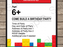 69 The Best Lego Party Invitation Template Free in Photoshop by Lego Party Invitation Template Free