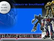 70 Best Transformers Birthday Invitation Template Photo for Transformers Birthday Invitation Template