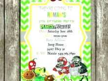 70 Create Plants Vs Zombies Birthday Invitation Template With Stunning Design by Plants Vs Zombies Birthday Invitation Template