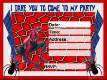 70 Creating Spiderman Party Invitation Template Free for Ms Word for Spiderman Party Invitation Template Free