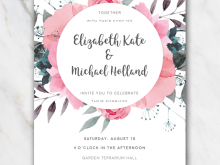 70 Creative Floral Wedding Invitation Template Templates by Floral Wedding Invitation Template