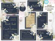 Wedding Invitation Layout Navy Blue