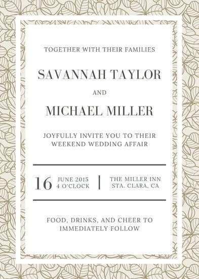 70 Customize Wedding Invitation Template Canva for Ms Word with Wedding Invitation Template Canva